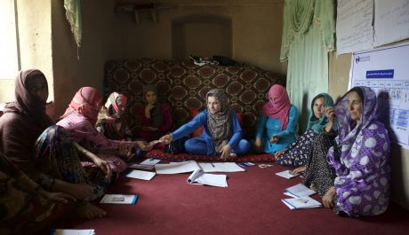 Almas SHG group meeting and on-going BDS training in Sar-e-Asyab village of Chimtal district, Balkh province on May 9, 2017.
